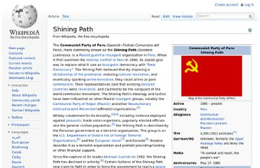 http://en.wikipedia.org/wiki/Shining_Path