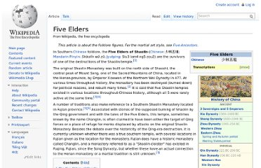 http://en.wikipedia.org/wiki/Five_Elders