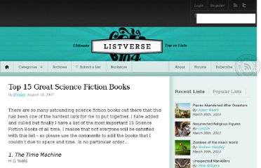 http://listverse.com/2007/08/18/top-15-great-science-fiction-books/