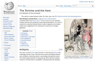 http://en.wikipedia.org/wiki/The_Tortoise_and_the_Hare