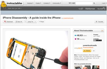 http://www.instructables.com/id/iPhone-Disassembly---A-guide-inside-the-iPhone/