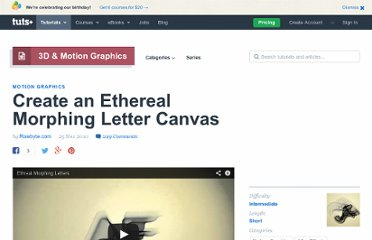 http://ae.tutsplus.com/tutorials/motion-graphics/create-an-ethereal-morphing-letter-canvas/