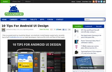 http://phandroid.com/2011/05/11/10-tips-for-android-ui-design/