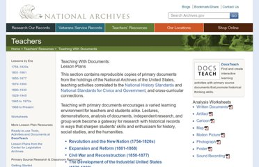 http://www.archives.gov/education/lessons/