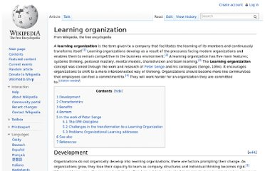 http://en.wikipedia.org/wiki/Learning_organization