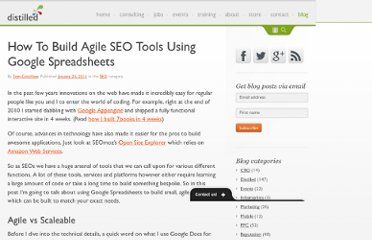 http://www.distilled.net/blog/seo/how-to-build-agile-seo-tools-using-google-docs/
