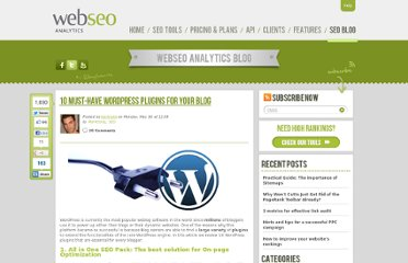 http://www.webseoanalytics.com/blog/10-must-have-wordpress-plugins-for-your-blog/