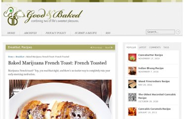 http://goodandbaked.com/recipes/baked-marijuana-french-toast-french-toasted/