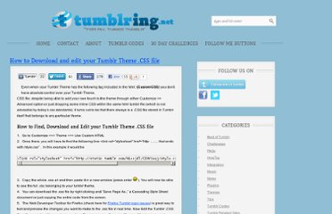 http://tumblring.net/how-to-download-and-edit-your-tumblr-theme-css-file/