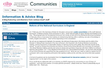 http://communities.cilip.org.uk/blogs/informationadvice/default.aspx