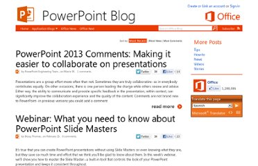http://blogs.office.com/b/microsoft-powerpoint/