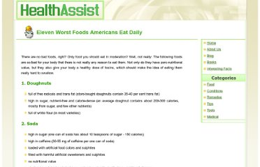 http://www.healthassist.net/conditions/food-avoid.shtml