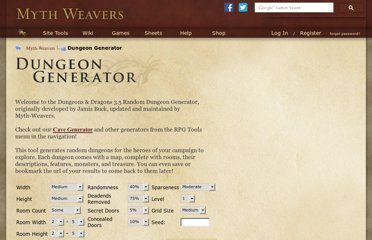 http://www.myth-weavers.com/generate_dungeon.php