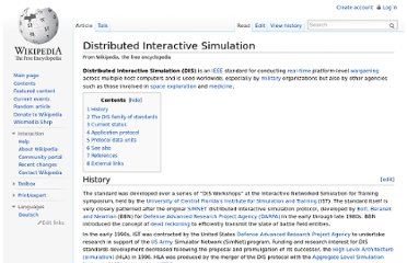 http://en.wikipedia.org/wiki/Distributed_Interactive_Simulation