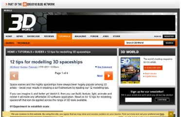 http://www.3dworldmag.com/2011/01/17/12-tips-for-modelling-3d-spaceships/