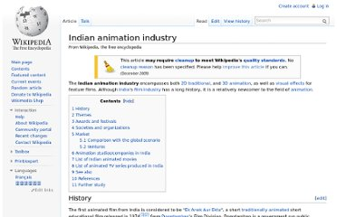 http://en.wikipedia.org/wiki/Indian_animation_industry