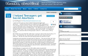http://www.thanksabortion.com/i-helped-teenagers-get-secret-abortions/