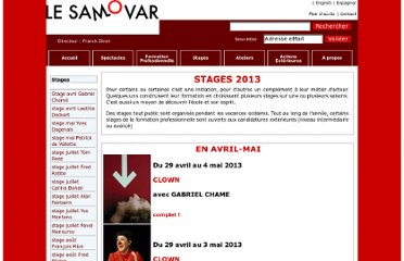 http://www.lesamovar.net/pages/stages.php