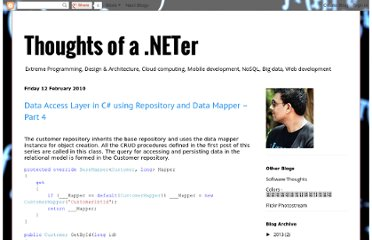 http://blogsprajeesh.blogspot.com/2010/02/data-access-layer-in-c-using-repository_1015.html