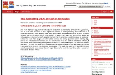 http://sqlblog.com/blogs/jonathan_kehayias/archive/2010/11/22/virtualizing-sql-on-vmware-reference-list.aspx