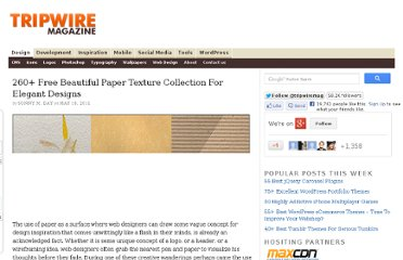 http://www.tripwiremagazine.com/2011/05/260-free-beautiful-paper-texture-collection-for-elegant-designs.html