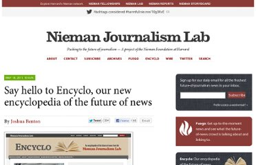 http://www.niemanlab.org/2011/05/encyclo-new-encyclopedia-of-the-future-of-news/
