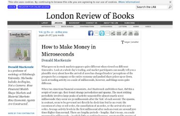 http://www.lrb.co.uk/v33/n10/donald-mackenzie/how-to-make-money-in-microseconds