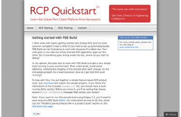 http://rcpquickstart.wordpress.com/2007/06/06/getting-started-with-pde-build/