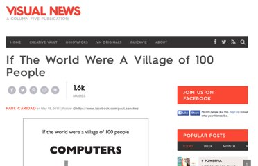 http://www.visualnews.com/2011/05/18/if-the-world-were-a-village-of-100-people/