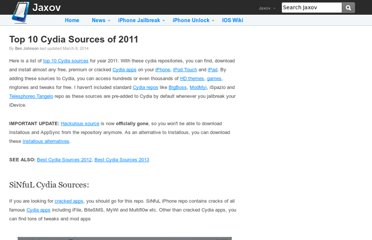 http://jaxov.com/2011/02/top-10-cydia-sources-of-2011/
