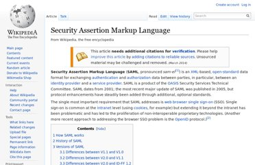 http://en.wikipedia.org/wiki/Security_Assertion_Markup_Language