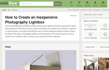 http://www.wikihow.com/Create-an-Inexpensive-Photography-Lightbox