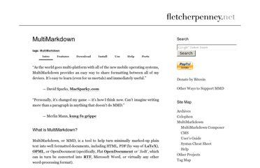 http://fletcherpenney.net/multimarkdown/