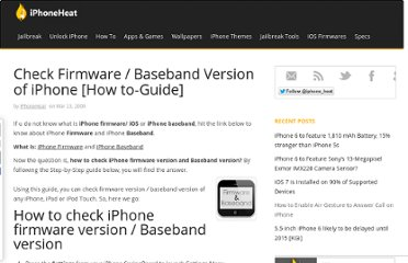 http://www.iphoneheat.com/2009/03/how-to-check-firmware-version-and-baseband-version-of-iphone/