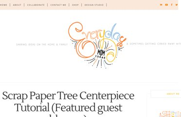 http://www.everydaymomideas.com/2011/03/scrap-paper-tree-centerpiece-tutorial.html