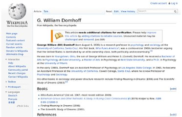 http://en.wikipedia.org/wiki/G._William_Domhoff