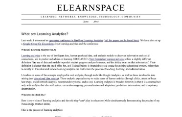 http://www.elearnspace.org/blog/2010/08/25/what-are-learning-analytics/