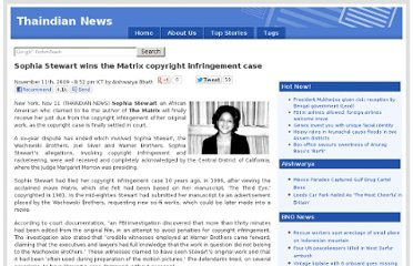 http://www.thaindian.com/newsportal/entertainment/sophia-stewart-wins-the-matrix-copyright-infringement-case_100273392.html
