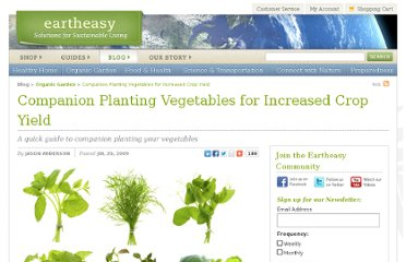 http://eartheasy.com/blog/2009/07/companion-planting-vegetables-for-increased-crop-yield/