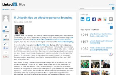 http://blog.linkedin.com/2009/04/07/5-linkedin-tips-on-effective-personal-branding/