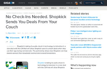 http://gigaom.com/2011/05/19/shopkick-teams-with-cw-to-make-tv-ads-active/