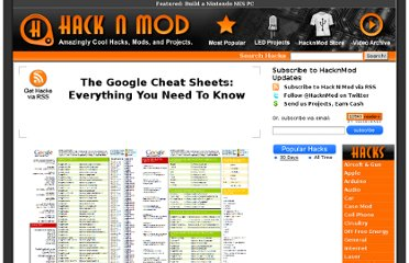 http://hacknmod.com/hack/the-google-cheat-sheets-everything-you-need-to-know/