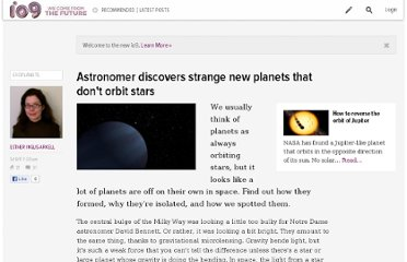 http://io9.com/5802775/strange-new-planets-discovered-that-dont-orbit-stars