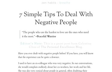 http://zenhabits.net/negative/
