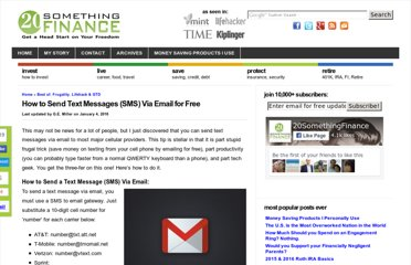 http://20somethingfinance.com/how-to-send-text-messages-sms-via-email-for-free/