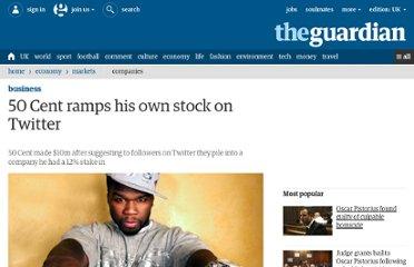 http://www.guardian.co.uk/business/2011/jan/11/50-cent-ramps-stock-on-twitter
