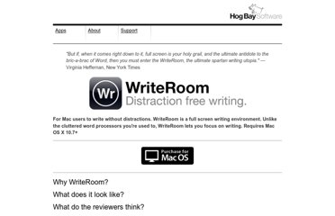 http://www.hogbaysoftware.com/products/writeroom