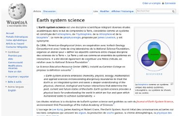 http://fr.wikipedia.org/wiki/Earth_system_science
