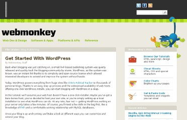 http://www.webmonkey.com/2010/02/get_started_with_wordpress/