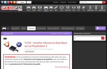 http://www.ps3gen.fr/tuto-ubuntu-dual-boot-playstation-3-petitboot-graf-chokolo-linux-gameos-hack-article-18255-1.html
